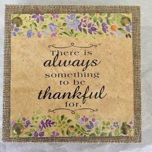 """""""Grateful"""" Wall Art"""
